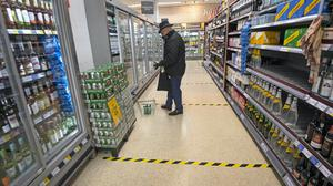 Retailers saw the sharpest decline in sales on record last month as people stayed at home due to the coronavirus lockdown and food sales cooled, according to new figures (Victoria Jones/PA)