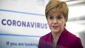 First Minister Nicola Sturgeon announced the figures at her daily briefing (Jane Barlow/PA)