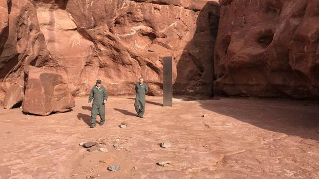 A monolith discovered in Utah (Utah Department of Public Safety)
