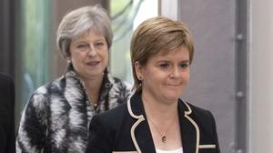 First Minister Nicola Sturgeon has written to Prime Minister Theresa May (Jane Barlow/PA)