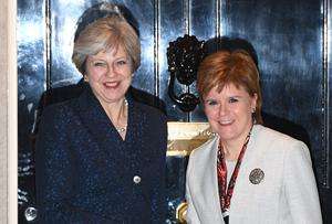 Theresa May (left) and Nicola Sturgeon have previously held Brexit talks in London (Stefan Rousseau/PA)