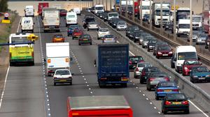 The figures suggest congestion in many areas is worsening (Chris Radburn/PA)