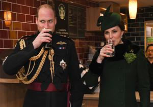 William and Kate attend the St Patrick's Day parade at Cavalry Barracks in Hounslow (Andrew Parsons/Sunday Times/PA)