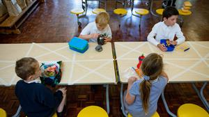 Lunchtime at Kempsey Primary School in Worcester (Jacob King/PA)