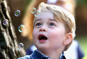 And like any young child, he seemed fascinated by bubbles (Chris Jackson/PA)