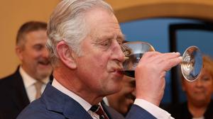 Charles attends a wine industry reception in Florence on the fourth day of his nine-day European tour