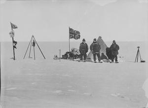 The Christmas camp on the plateau. (Scott Polar Research Institute, University of Cambridge/ PA)