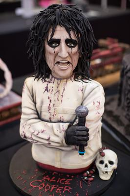 This baker hit the right note with their likeness of singer Alice Cooper (Aaron Chown/PA)