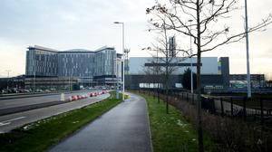 The Queen Elizabeth University Hospital in Glasgow has Covid-19 patients on the trial (Jane Barlow/PA)