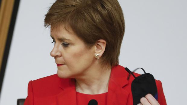 Nicola Sturgeon gave evidence to the Committee on the Scottish Government Handling of Harassment Complaints (Andrew Cowan/Scottish Parliament/PA)