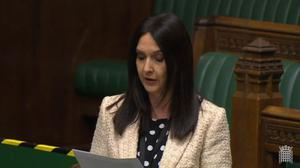 Margaret Ferrier in the House of Commons on Monday (Parliament TV/PA)