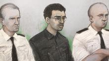 Hashem Abedi (centre) at an earlier hearing (Elizabeth Cook/PA)