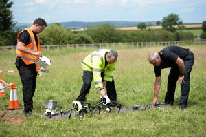 Officers from Devon and Cornwall and Dorset Police working together on a joint drone unit (Ben Birchall/PA)