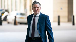 Newly elected Labour leader Sir Keir Starmer arrives at BBC Broadcasting House in London (Aaron Chown/PA)