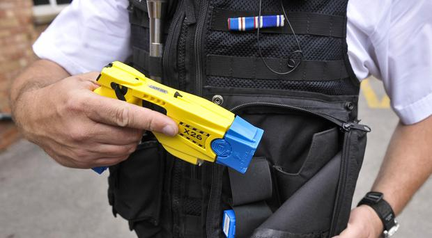 The suspect was Tasered and arrested at the scene. (Ben Birchall/PA)