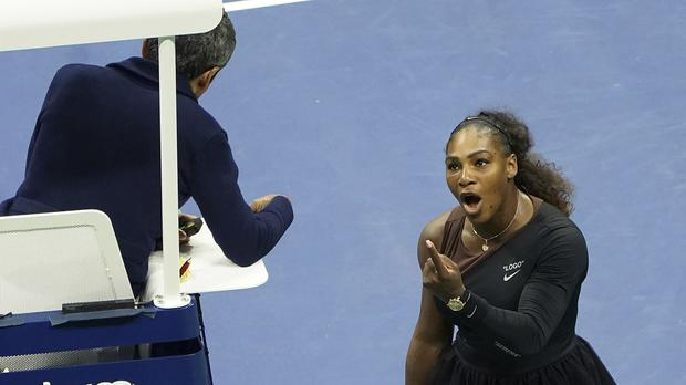 Serena Williams lost to Naomi Osaka in the US Open final (Greg Allen/AP)