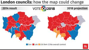 London councils: how the map could change (PA Graphics)