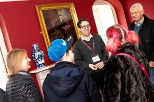 Museum manager Owen Gower giving a tour of Dr Jenner's House (Dr Jenner's House/PA)