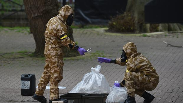 Military personnel helped with the clean up operation in Salisbury (Ben Birchall/PA)