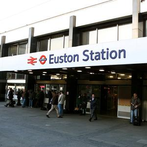 Euston station in north London will be developed by keeping most of the existing platforms and improving the station around them