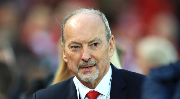 Peter Moore visited the fan in hospital in Naples (PA)