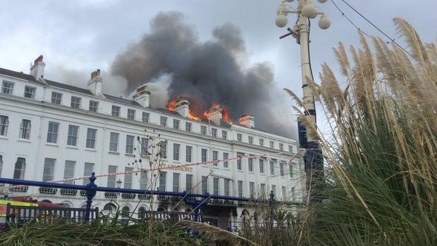 The fire at the Eastbourne hotel (East Sussex Fire and Rescue Service)