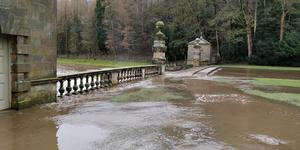 Cascade to Studley Royal hit by flooding (National Trust/Tom Rafal/PA)