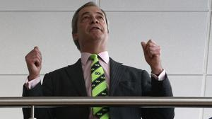 Ukip leader Nigel Farage before entering the conference hall to attend his party's spring conference in Llandudno, North Wales