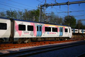 A Thameslink train is one of three given a makeover (Nigel Spreadborough/Locations Photography Ltd/PA)
