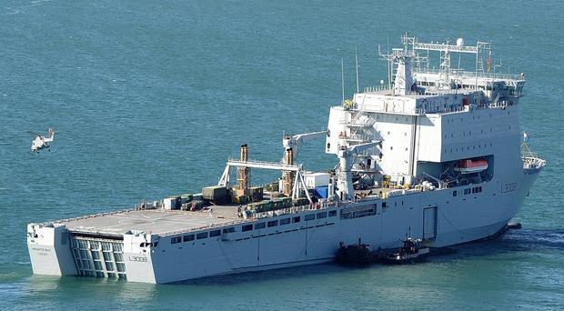 RFA Mounts Bay (PO(Phot) Sean Clee/MoD Crown/PA)