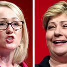 Rebecca Long-Bailey (left) and Emily Thornberry launched their rival bids to be the next Labour leader on Friday (PA)