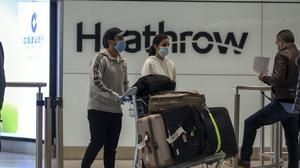Heathrow said just 350,000 people travelled through the airport last month (Steve Parsons/PA)