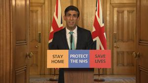 Chancellor Rishi Sunak has set out plans to help the self-employed during the coronavirus pandemic (PA Video)