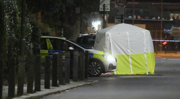 Police presence in Battersea Church Road, south London (Kirsty O'Connor/PA)
