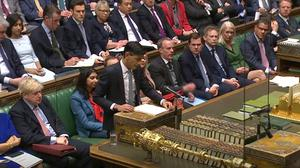 Chancellor Rishi Sunak delivers his Budget (House of Commons/PA)