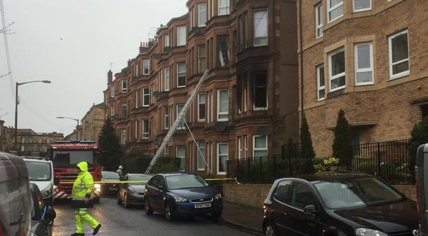 Four fire engines attended the scene in Shawlands (Lucinda Cameron/PA)