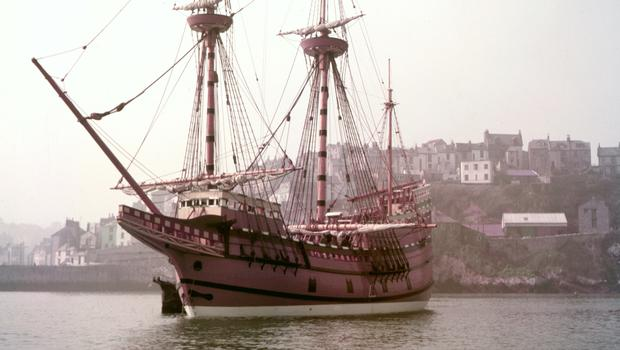 The Mayflower II, a replica of the 17th-century ship Mayflower, celebrated for transporting the Pilgrims to the New World (PA)
