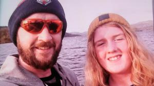 Joshua James Flynn, left, son Coby-Jay Flynn, right, and daughter Skylar Flynn died following a collision in Dalton on Father's Day (Cumbria Police/PA)