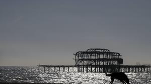 A view of the old pier in Brighton, Sussex (Steve Parsons/PA)