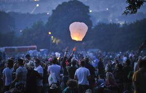 Glastonbury Festival boss Michael Eavis has previously urged people not to light sky lanterns at the event (Ben Birchall/PA)