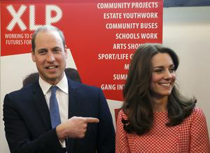 William and Kate during a visit to the mentoring programme of the XLP project (Frank Augstein/PA)