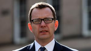 Former News of the World editor Andy Coulson outside the High Court in Edinburgh amid his perjury trial
