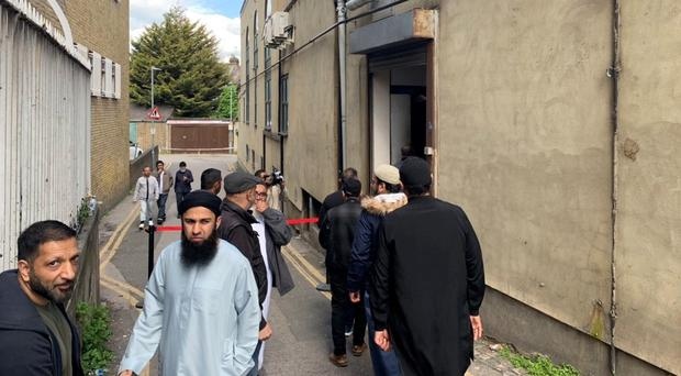 Worshippers arriving for Friday prayers at Seven Kings Mosque in Ilford (Tony Diver/PA)