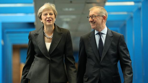 Prime Minister Theresa May and her husband Philip May (PA)