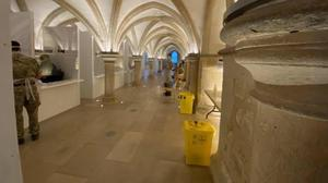 The Covid-19 testing centre at Rochester Cathedral (Handout/PA)