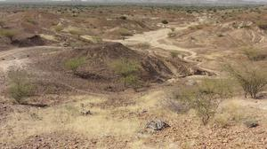 The Kanapoi site in Kenya, east Africa (Carol Ward/PA)