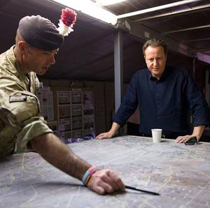 David Cameron has paid a Christmas visit to the military in Helmand province