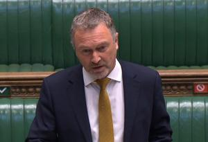 Shadow secretary of state for communities Steve Reed speaking in the House of Commons (PA)