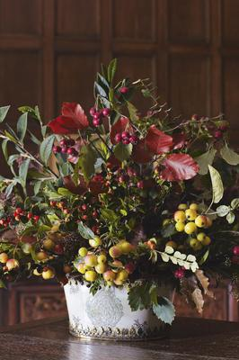 An example of a winter posy created for Her Majesty The Queen, featuring a mix of evergreen leaves and colourful berries (Royal Collection Trust/ Her Majesty Queen Elizabeth II 2021/PA)