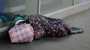 A homeless person on the street (Nick Ansell/PA)